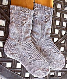 Artichoke socks by Janel Laidman...  don't knit many socks these days... but ARTICHOKES!