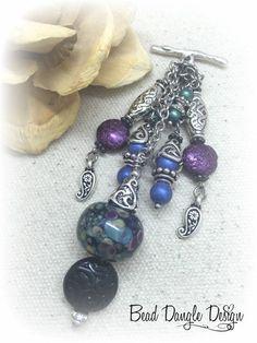 Swirls of Color Beaded Chain Dangle – Bead Dangle Design