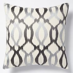 Embroidered Ikat Links Pillow Cover – Platinum #westelm