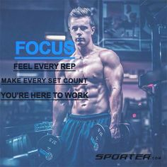 Focus Feel Every Rep. Make Every Set Count. You're Here To Work. .  #sportermotivationalquote #motivational #fitness #bodybuilding #fitspiration #youcandoit #crossthefit #uaefitnessmovement #ksa #healthylifestyle #qatar #healthybody #dubaifitness #healthy #supplements #protein #fitnessquote #sportercom