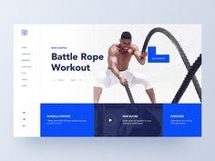 Fitness Hero Concept by Omer Erdogan on Dribbble Website Design Layout, Website Design Company, Web Layout, Design Ui Ux, Dashboard Design, Battle Rope Workout, Identity, Battle Ropes, Ui Design Inspiration