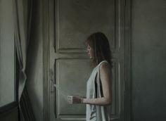 "Saatchi Online Artist: daniel gonzalez coves; Oil, 2011, Painting ""Girl reading at an open window no.2"""