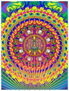 ☮ American Hippie Art ☮ Peace Sign Mandala