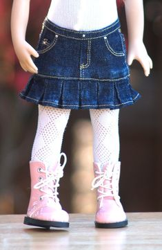 Colvin Jeans Skirts for Little Darling Dolls Project Description This pattern will help you create darling denim jeans skirts for your 13 Effner Little Darling dolls. The skirts are detailed, with realistic front and back pockets (even a key pocket). There are instructions for