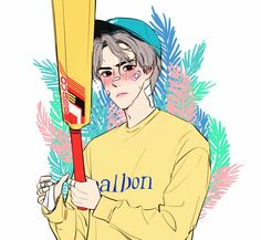 Exo Anime, Exo Fan Art, Kpop Fanart, Boy Art, Sehun, Art Inspo, Art Reference, Photo Art, Character Art
