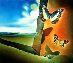 Landscape with Butterflies by S.Dalì