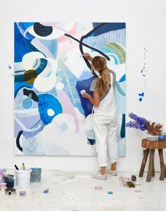What is Your Painting Style? How do you find your own painting style? What is your painting style? Painting Inspiration, Art Inspo, Studios D'art, Tableau Pop Art, Art Design, Oeuvre D'art, Artist At Work, Painting & Drawing, Blue Painting