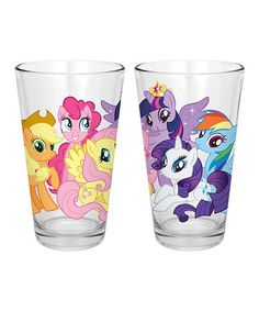 Another great find on #zulily! My Little Pony Milk Glass - Set of Two #zulilyfinds
