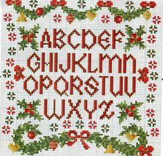 alfabeto ponto cruz de natal