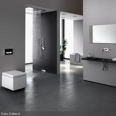 Ein modernes Badezimmer mit offener Dusche? Weitere Inspirationen bekommt ihr auf www.roomido.com