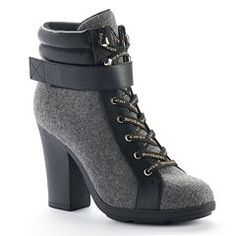93857f5e726 Juicy Couture Women s Lace-up High Heel Ankle Boots Chunky Heel Ankle Boots