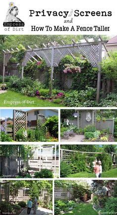 Structures in your yard can be taller than the the allowed height of your fence. Here are some DIY privacy screens for the garden and how to make a fence taller