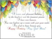 A warm and pleasant birthday - Birthday Quote