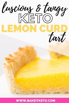 This keto lemon curd tart pairs luscious, tangy sugar-free lemon curd with a rich low carb shortbread crust. Gluten free, sugar free, with dairy free option, and made with coconut flour (no almond flour). No one will ever guess this is a healthy lemon tart! A perfect, easy, low carb dessert for guests or a dinner party.
