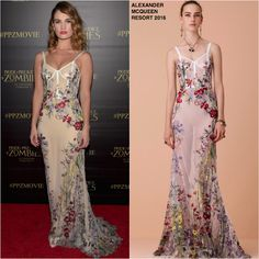Lily James in Alexander McQueen at the 'Pride And Prejudice And Zombies' LA Premiere
