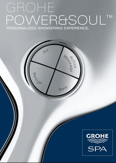 GROHE Power & Soul™ : Personalized shower according to your moods and needs. #showerhead #shower #bathroom http://www.grohe.co.uk/en_gb/bathroom-collection/showers-power-and-soul.html
