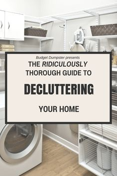 Don't start your spring cleaning until you've read this! Over 80 expert tips for decluttering your home. #declutteryourhome #homedecluttering #homecleaningtips