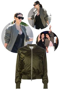 If you are thinking to yourself that Kim is an outerwear expert, you are correct. She, North, and Ye all are fans of the bomber jacket. Acne Studios 'Encore' Bomber Jacket, $654; farfetch.com - ELLE.com