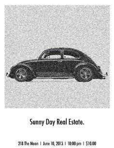 Sunny Day Real Estate on the moon. Rip of old Volkswagen ads.