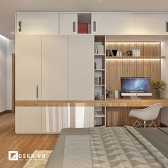 Krajšie riešenia sme ešte nevideli: Títo ľudia nechceli mať v byte obyčaj… We haven't seen better solutions: These people didn't want to have ordinary built-in wardrobes in the apartment – those ideas will amaze you! Study Table Designs, Study Room Design, Home Room Design, Home Office Design, Home Office Decor, Home Interior Design, Office Style, Wardrobe Door Designs, Wardrobe Design Bedroom