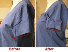 Who knew? Your ready to wear t shirt may have been cut to *fold flat* for shipping and display, instead of being cut to flatter a woman's body. (plus: how to alter a t shirt pattern to fix this common fitting issue)