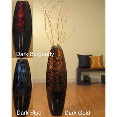 "large tall decorative floor vase | large floor vases :: 36"" red"