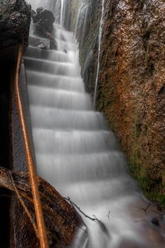 Forgotten Forgaten  Stairs, now a waterfall.