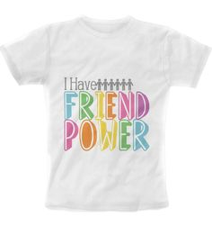 MFK- Friend Power T-Shirt- Colorful on White