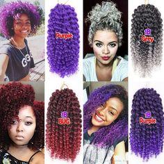 Buy Fashion 1 Pc Curly Crochet Hair Braids Malibob Braiding Hair Ombre Synthetic Hair Colors) at Wish - Shopping Made Fun Short Crochet Braids, Crochet Braids Marley Hair, Curly Crochet Hair Styles, Crochet Braid Styles, Short Braids, Crochet Braids Hairstyles, Bob Hairstyles, Braided Hairstyles, Curly Hair Styles