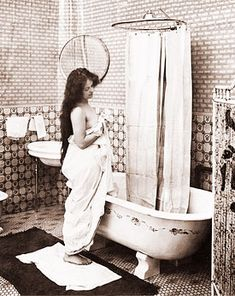 Vintage Bath Scene (Historical Photos of Old America)