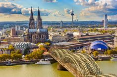 Cologne, Germany Overlooked by a spectacular Gothic cathedral which took over 600 years to build, Cologne in Germany is a stunning city with a picturesque skyline and some magnificent sites. Spanning the wonderful Rhine River, the city is as picturesque as they come and is today still as important culturally as it was 2,000 years ago.