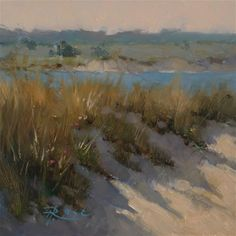 "Daily Paintworks - ""vineyard marsh"" by Howard Rose"