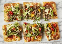 Taco Pizza made with