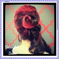 #formal #hair #bridesmaids #red #hair #updo by #stylist @Kristin Foreman