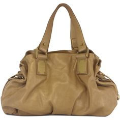 Pre-owned Michael Kors Copper Leather Rehearsal Drawstring Bag (3,470 CNY) ❤ liked on Polyvore featuring bags, handbags, genuine leather purse, michael kors purses, real leather purses, leather handbags and michael kors handbags