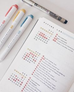 Bullet Journal future log ideas for Beginners. Are you new to Bullet Journalling? Here is your easy Bullet Journal Guide for Beginners. Bullet Journal School, Planner Bullet Journal, Bullet Journal Notes, Bullet Journal Aesthetic, Bullet Journal Spread, Bullet Journal Ideas Pages, Bullet Journal Future Log Layout, Bullet Journal Events, Minimalist Bullet Journal Layout