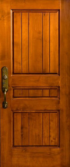 Spanish Cedar solid wood door with Rocky Mountain Hardware. www.clearancedoor.com