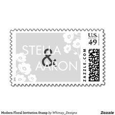 Modern Floral Invitation Stamp