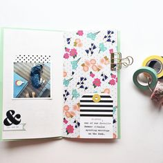 Art journal pages and scrapbook inspiration - ideas for travel journaling, art journaling, and scrapbooking. Travel Journal Scrapbook, Travel Journal Pages, Album Scrapbook, Art Journal Pages, Journal Notebook, Art Journaling, Notebook Ideas, Travel Journals, Scrapbook Layouts