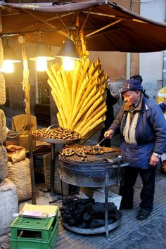 Roasted chestnuts - Rome, Italy