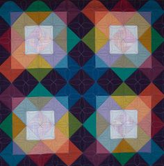 """Moonbeam"" by Carol Damm, 2013 award winner, San Francisco Quilters Guild.  Lovely transparency effect."