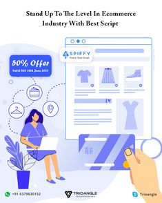 Launch Your Venture On A Most Profitable Platform With Trioangle's best #ecommercescript Available With 50% Offer, Valid Till 28th June 2020. Hurry up..!   #EcommerceWebsiteDevelopment #EcommerceSoftware #OnlineShoppingSoftware #FancyClone #EcommerceScript Ecommerce Software, Stand Up, Script, June, Product Launch, Platform, Fancy, Good Things, Technology