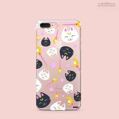 'Sailor Kitty' (@okitssteph x @milkywaycases) - Clear TPU Case Cover – Milkyway