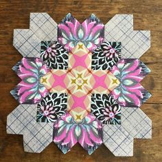 """82 Likes, 5 Comments - Linda (@quiltlady63) on Instagram: """"Block 39/56 This one is one of my favorites! #lucyboston #patchworkofthecrosses #epp…"""""""