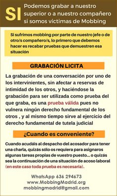 Mobbing Madrid PRIDICAM: SI. Podemos grabar a nuestro superior o a nuestro ...