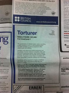 Clever Advert in the Guardian Today (via