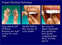 Proper Flossing Technique. Only floss the ones you'd like to keep.