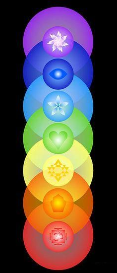 Each one of the seven chakras is a center of a specific kind of energy in the body. Reiki can be used to align the chakras or cleanse them. Arte Chakra, Chakra Art, Chakra Healing, Tantra, Les Chakras, Seven Chakras, Mudras, Chakra Balancing, Chakra Meditation