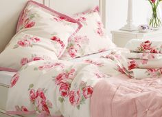 Find sophisticated detail in every Laura Ashley collection - home furnishings, children's room decor, and women, girls & men's fashion. Ashley Home, Laura Ashley, Linen Bedding, Bedding Sets, Rose Decor, Linens And Lace, Childrens Room Decor, Rose Cottage, Cottage Style