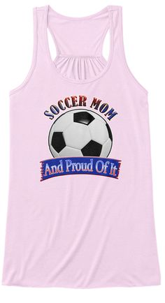 Soccer Mom  Proud Of It Soft Pink Women's Tank Top Front